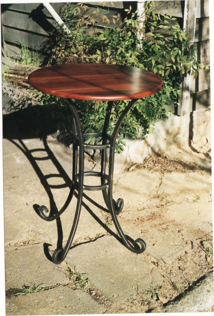 Forged Iron Cafe Table